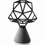 Chair One – Designstol betongfot – Sort