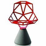 Chair One – Designstol betongfot – Rød 5085
